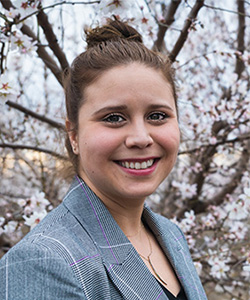 Vicky Espinoza's research addresses water management and global food security.