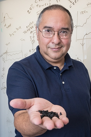 Professor Gerardo Diaz is the principal investigator of the interdisciplinary research into the effectiveness of biochar for reducing methane emissions.