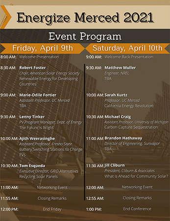 Energize Merced 2021's Event Program