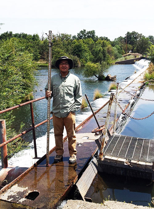 Alumnus Stephen Ho works for Merced Irrigation District's engineering department overseeing water management instrumentation.